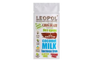 Шоколад без цукру Молочний Green series Leopol' м/у 25г