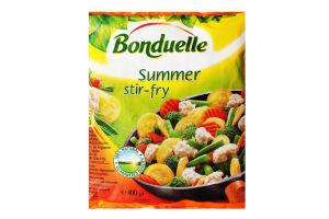 Суміш овочева заморожена з броколі і кабачками Bonduelle м/у 400г