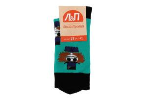 Шкарпетки чоловічі Лівий&Правий №797408 27 (41-42) бірюза
