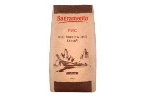 Рис нешліфований бурий Sacramento м/у 500г