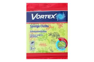Салфетки губчатые для уборки 18х20см Vortex 2шт