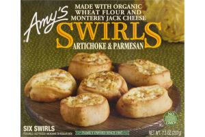Amy's Swirls Artichoke & Parmesan - 6 CT