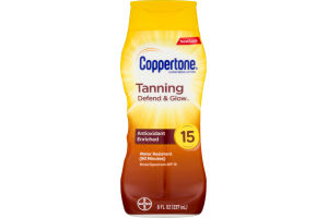 Coppertone Tanning Lotion Sunscreen SPF 15