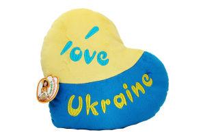 Іграшка м'яка Подушка-серце Я люблю Україну Тигрес ПД-0121
