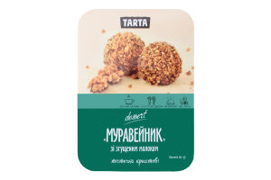 Тістечко крихтове зі згущеним молоком Муравейник Tarta п/у 180г