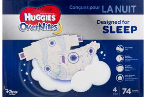 Huggies OverNites Diapers Size 4 - 74 CT