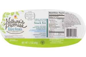 Nature's Promise Garlic and Herb Uncured Salami Snack Kit