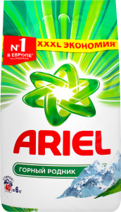 Засіб миючий Ariel порошкоподібний Automat Гірське Джерело 6кг х