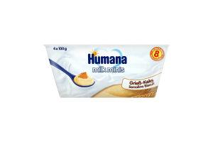 Пудинг манный с печеньем для детей от 8мес Humana п/у 4х100г