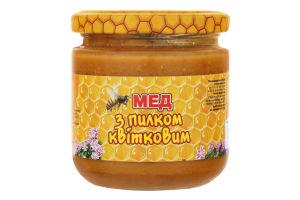 Мед с цветочной пыльцой Медова Скарбниця с/б 250г