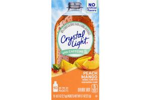 Crystal Light With Caffeine Drink Mix Peach Mango - 10 CT