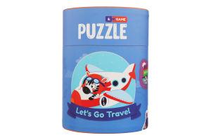 Пазл для дітей від 18міс №200106 Мандруємо 2-3 елементи Mon Puzzle 1шт