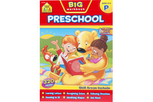 School Zone Big Workbook Preschool (Ages 3-5)
