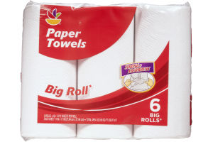 Ahold Paper Towels Strong & Absorbent Big Roll - 6 CT