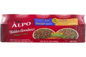 Purina Alpo Dog Food Hidden Goodness Variety pack - 12 CT