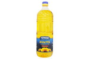 Масло подсолнечное рафинированное Золотое Чумак п/бут 2л