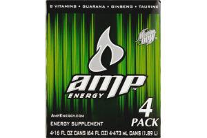 Mountain Dew AMP Energy Energy Supplement - 4 CT