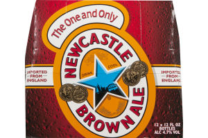 Newcastle Brown Ale Beer Bottles - 12 CT