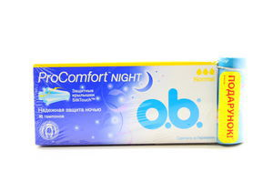 Тампоны Pro Comfort Night OB 16шт + футляр