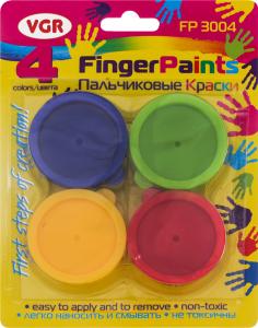 Фарби VRG пальчикові 4шт fp3004
