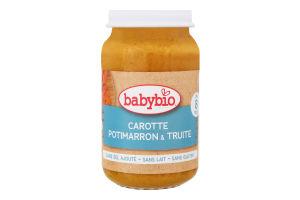 Пюре для детей от 12мес из моркови тыквы и форели органическое Babybio с/б 200г