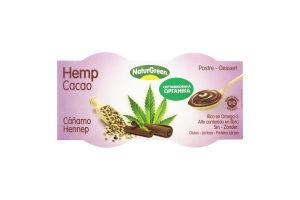 Десерт рослинний органічний з насіння коноплі з шоколадом NaturGreen к/у 2х125г