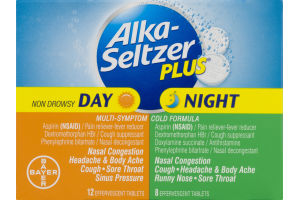 Alka-Seltzer Plus Day & Night Multi-Symptom Cold Formula Effervescent Tablets - 20 CT