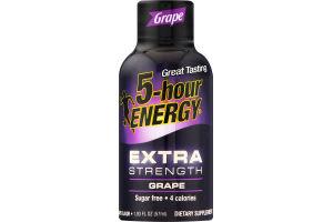 5-Hour Energy Extra Strength Dietary Supplement Grape