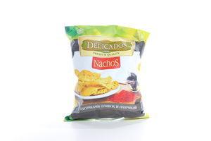 Кукурузные чипсы с кусочками оливок и паприкой Nachos Delicados м/у 75г