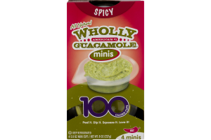 Wholly Guacamole Minis Spicy Hot - 4 CT