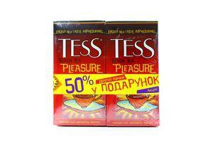 Чай TESS Pleasure чорний 1.5гx25штx2уп х5