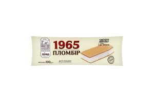Морозиво 12% пломбір у вафельних листах 1965 Лімо м/у 100г