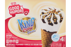 Good Humor King Cone Vanilla Ice Cream Cone - 4 PK