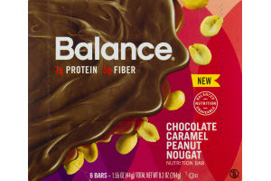 Balance Chocolate Caramel Peanut Nougat Nutrition Bar- 6 CT
