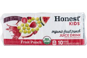 Honest Kids Organic Juice Drink Fruit Punch - 10 CT