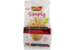 Ore-Ida Simply Country Style French Fries Cracked Black Pepper and Sea Salt