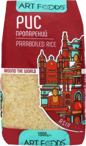 Рис довгозернистий пропарений Art Foods м/у 1000г