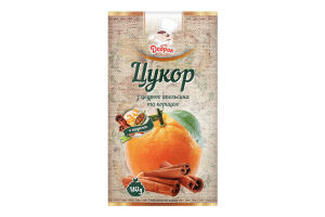 Сахар с цедрой апельсина и корицей Добрик к/у 180г