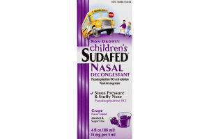 Children's Sudafed Nasal Decongestant Non-Drowsy Grape