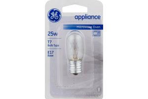 GE Microwave Oven Appliance Lightbulb 25W