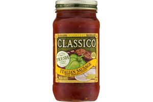 Classico Pasta Sauce Italian Sausage with Peppers & Onions