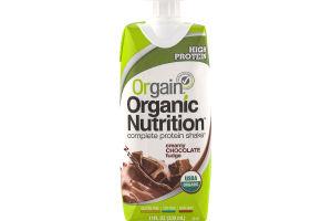 Orgain Organic Nutrition Complete Protein Shake Creamy Chocolate Fudge
