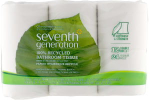 Seventh Generation 100% Recycled Bathroom Tissue - 12 CT