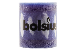 Свеча Bolsius Рустики темно-синий 80/68мм