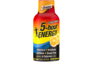5-Hour Energy Dietary Supplement Orange