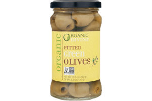 Organic Divina Pitted Green Olives