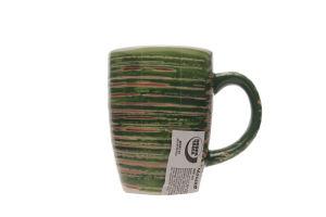 Чашка Повна Чаша керамическая зеленая 300мл