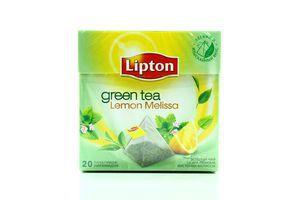 Чай Lemon Melissa зеленый с/я Lipton ф/п пирамидка 20*1,7г