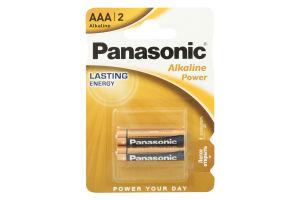Батарейка ААА LR03 Alkaline Power Panasonic 2шт