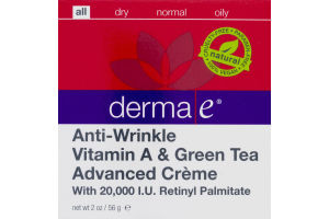 Derma E Anti-Wrinkle Vitamin A & Green Tea Advanced Creme